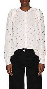 Masscob Women's Keira Silk Blouse - White