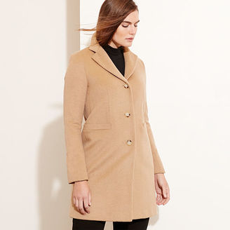 Ralph Lauren Woman Wool-Blend 3-Button Coat $255 thestylecure.com
