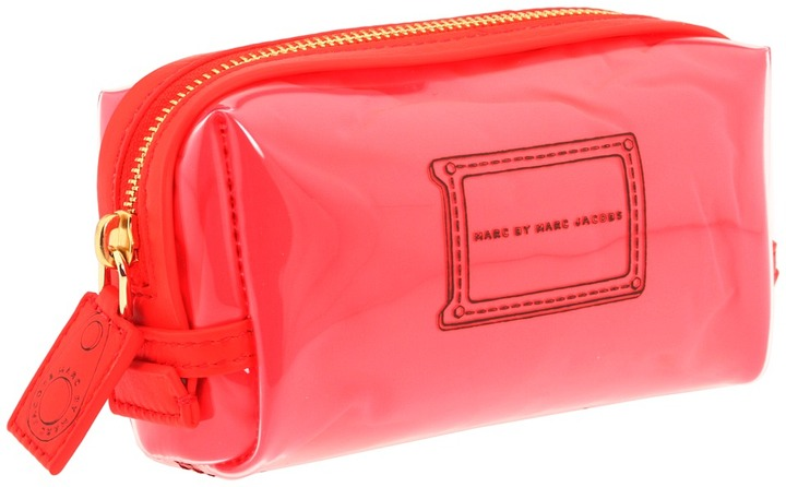 Marc by Marc Jacobs Werdie Clear Solids Makeup Cosmetic (Clear Fluoro Coral) - Bags and Luggage