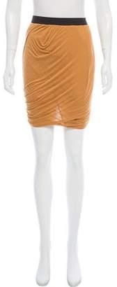 Enza Costa Gathered Mini Skirt