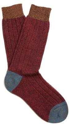 Pantherella Scott Nichol Burghley Socks - Mens - Red Multi