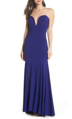 Xscape Evenings Bustier Strapless Gown