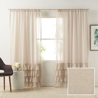 Lauren Conrad Kate Ruffle Sheer Curtain