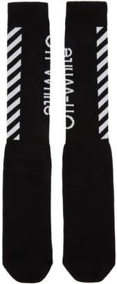Off-White Black and White Diag Socks