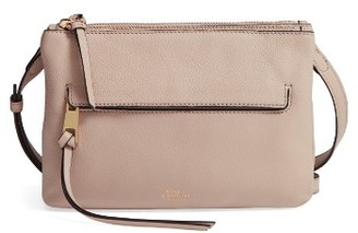 Vince Camuto Gally Leather Crossbody Bag - Beige $158 thestylecure.com