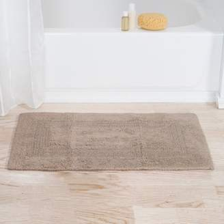 """Cotton Reversible Bath Mat- 100 Percent Cotton, Soft and Absorbent Hand Tufted Bath Rug By Somerset Home (24"""" x 40"""") (Taupe)"""