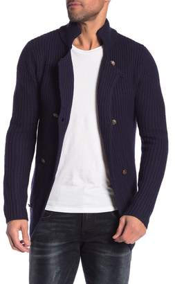 Scotch & Soda Solid Wool Double Breasted Cardigan