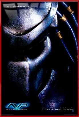 "Victoria's Secret Alien Predator - Framed Movie Poster / Print (AVP: Teaser / Predator) (Size: 27"" x 40"")"