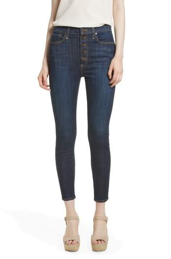 AO.LA Good High Waist Exposed Button Skinny Jeans