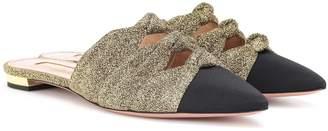 Aquazzura Mondaine glitter slippers