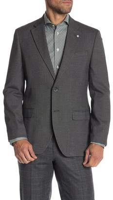 Nautica Grey Dotted Two Button Notch Lapel Sport Coat