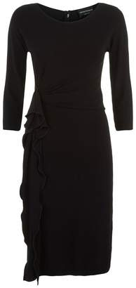 Emporio Armani Ruffle Side Dress