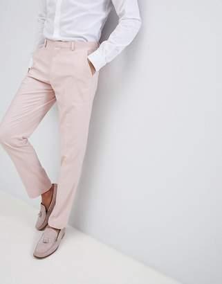Asos DESIGN Wedding Skinny Suit Pants In Neutral Pink