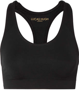 Lucas Hugh Technical Knit Stretch Sports Bra - Black