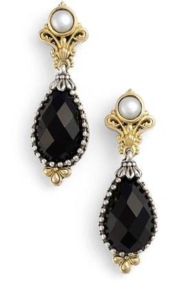 Women's Konstantino 'Nykta' Pearl & Black Onyx Drop Earrings $675 thestylecure.com