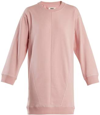 MM6 MAISON MARGIELA Round-neck cotton sweatshirt dress