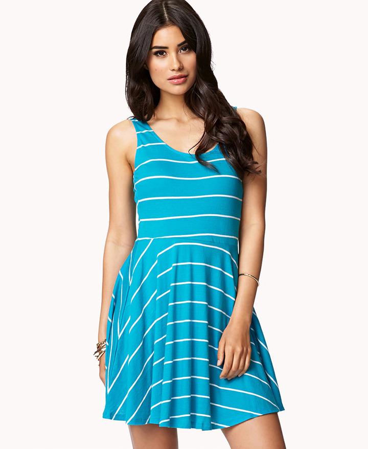 Forever 21 Striped Skater Dress