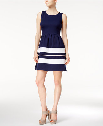 Maison Jules Striped Fit & Flare Dress, Only at Macy's $69.50 thestylecure.com