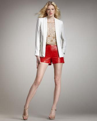 Alice + Olivia Leather Shorts