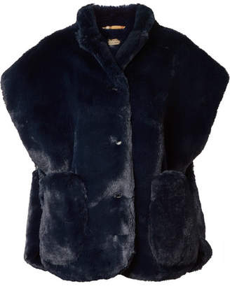 Burberry Faux Fur Wrap - Navy