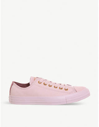Converse leather low-top trainers