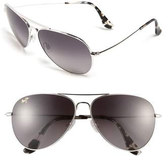 Maui Jim Mavericks 61mm PolarizedPlus2(R) Aviator Sunglasses