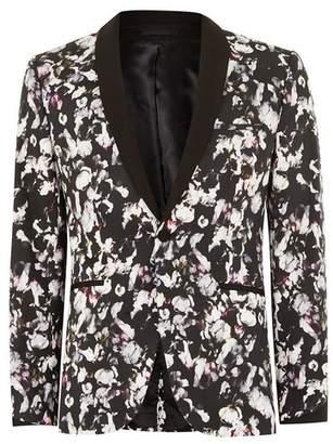 Topman Mens Multi Flower Print Ultra Skinny Suit Jacket