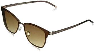 Cole Haan Women's Ch7028 Metal Clubmaster Oval Sunglasses