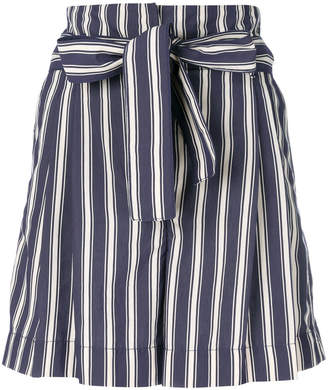 Jacob Cohen tied waist striped shorts