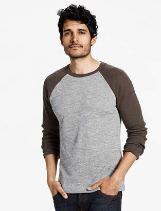 Lucky Brand COLOR BLOCK THERMAL CREW