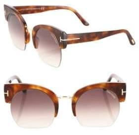 Tom Ford Savannah 55MM Cropped Cat Eye Sunglasses