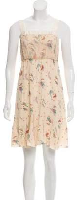 Nina Ricci Silk Printed Sleeveless Dress