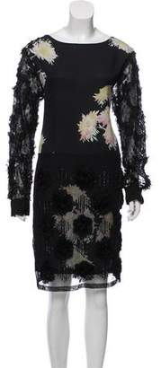 Dries Van Noten Silk Knee-Length Dress