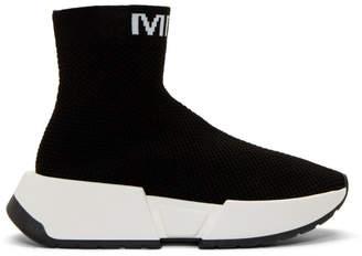 MM6 MAISON MARGIELA Black Second Skin High-Top Sneakers