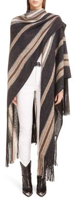 Isabel Marant Kalibo Mohair & Wool Blend Poncho Coat