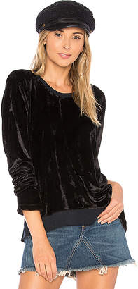 Wilt Velvet Notch Hem Top