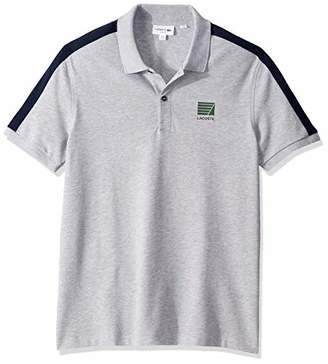 Lacoste Men's S/S Mini Pique Stripe Sleeve Slim Stretch FIT Polo
