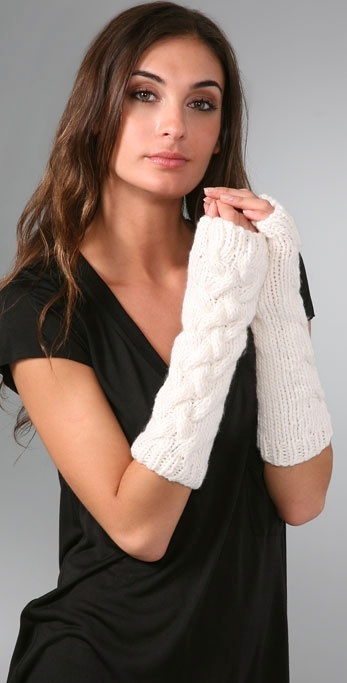 Bop Basics Thick Knit Fingerless Gloves