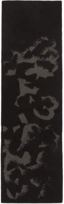 Y-3 Black Logo Icon Scarf