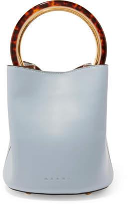 Marni Pannier Small Leather Bucket Bag - Light blue