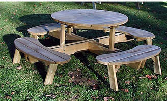 Grange Fencing Wooden Garden Table with Seats