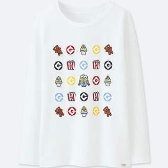 Uniqlo Kid's Minions Heattech Extra Warm Crewneck T-Shirt