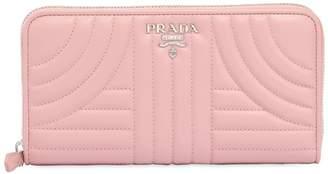 Prada Quilted Leather Zip Around Wallet