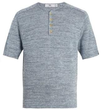 Inis Meáin - Short Sleeved Linen Top - Mens - Blue