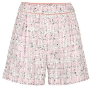 Miu Miu Knitted wool and cotton-blend shorts