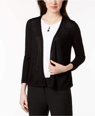 Alfani Textured Ottoman-Ribbed Cardigan, Created for Macy's