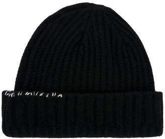 Ambush contrast stitch knitted hat