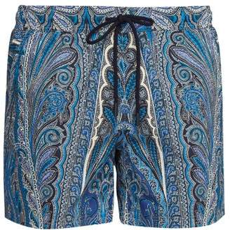 8677214183 Etro Striped Paisley Print Swim Shorts - Mens - Blue Multi