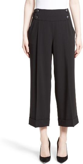 Women's Armani Collezioni Stretch Wool Crop Pants