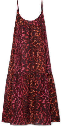 Stella McCartney Leopard-print Cotton And Silk-blend Maxi Dress - Leopard print